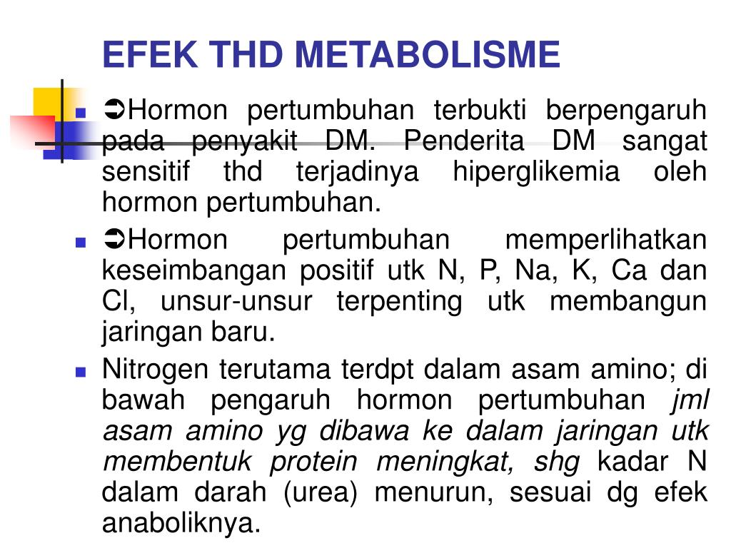 EFEK THD METABOLISME