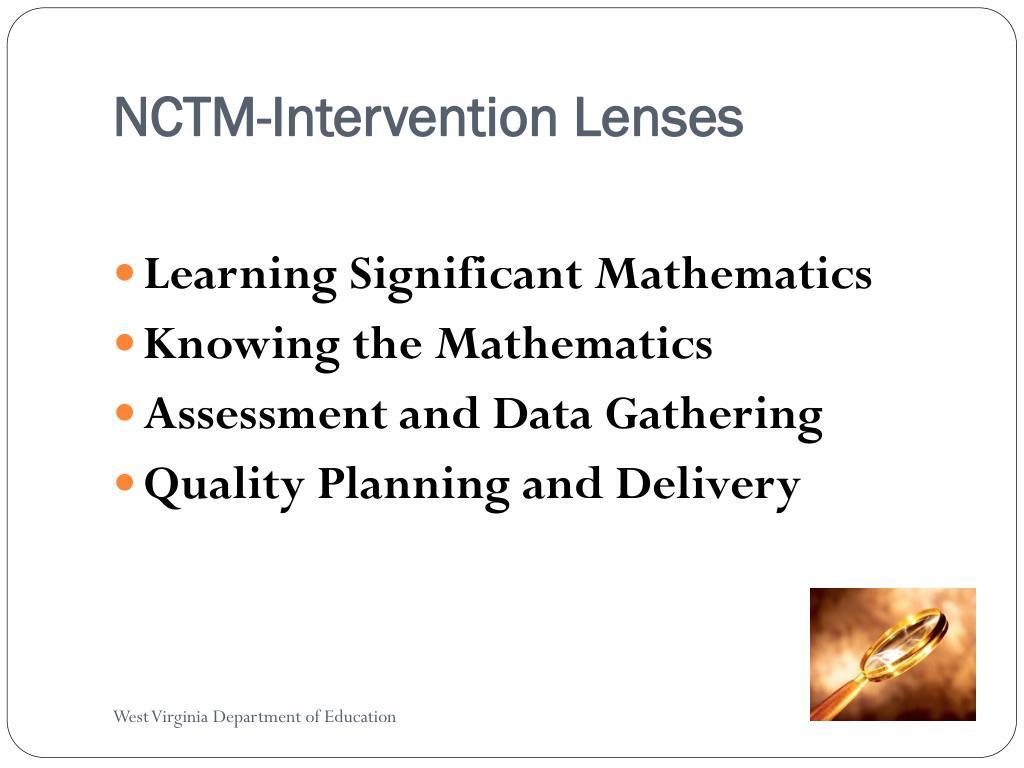 NCTM-Intervention Lenses