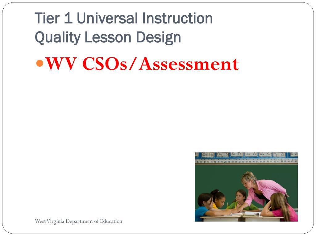 Tier 1 Universal Instruction