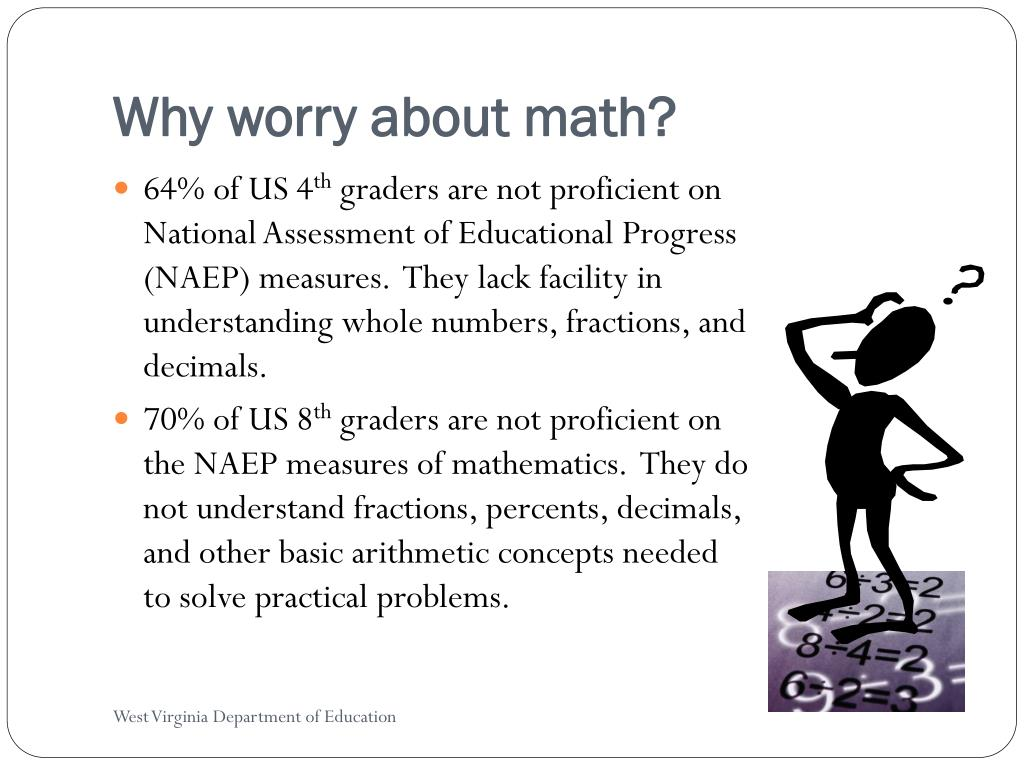 Why worry about math?