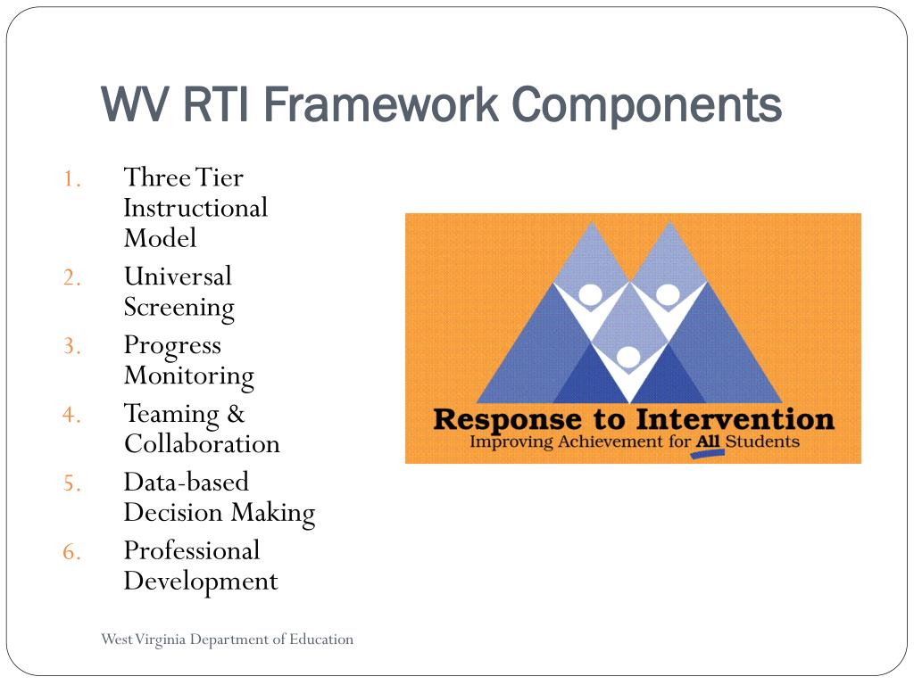 WV RTI Framework Components