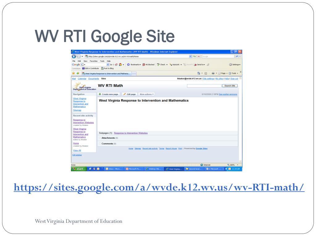 WV RTI Google Site