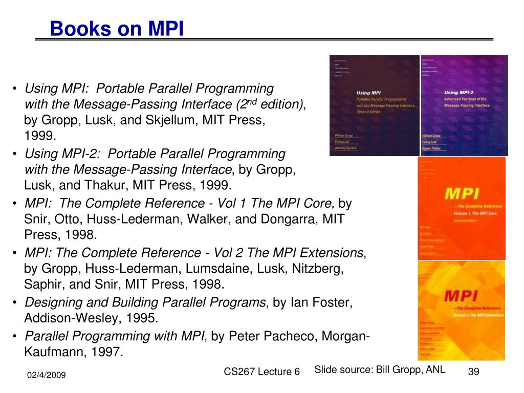 Books on MPI