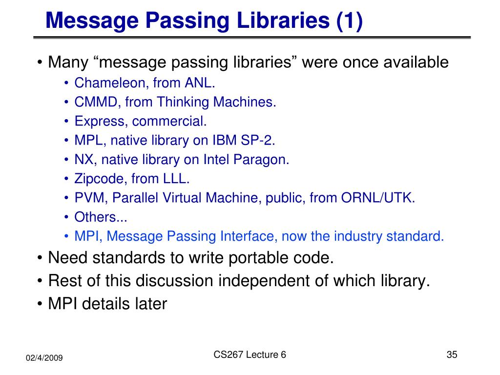 Message Passing Libraries (1)