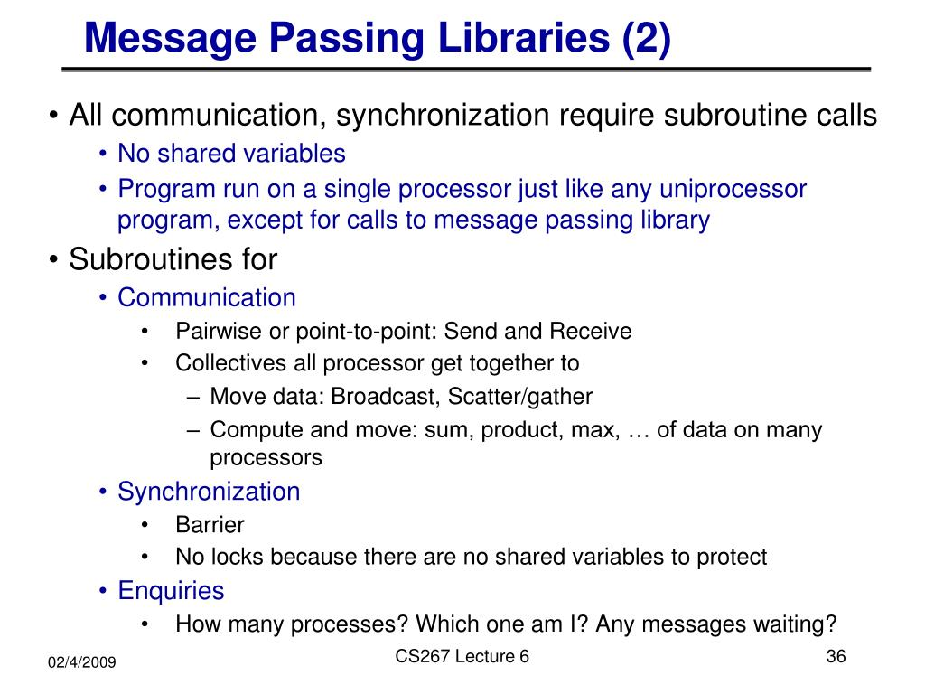 Message Passing Libraries (2)