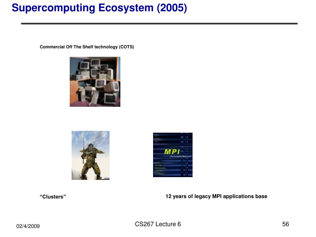 Supercomputing Ecosystem (2005)
