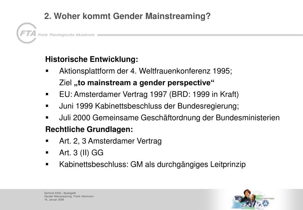 2. Woher kommt Gender Mainstreaming?