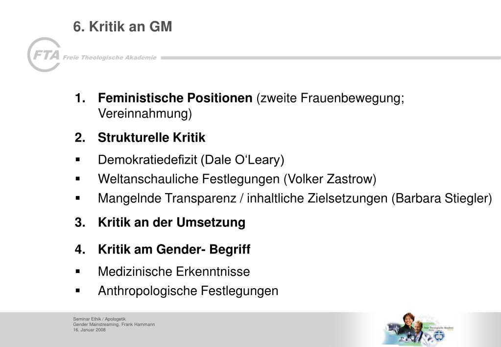 6. Kritik an GM