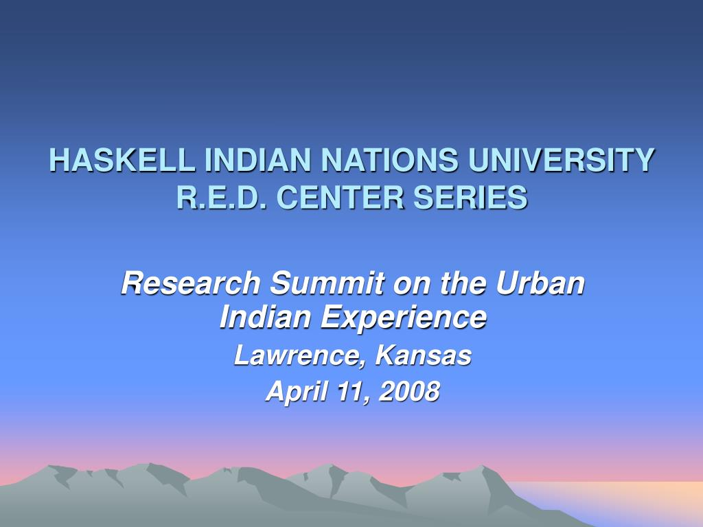 haskell indian nations university r e d center series l.