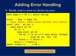 adding error handling