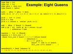 example eight queens