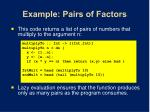 example pairs of factors