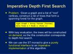 imperative depth first search