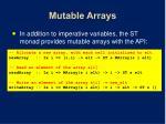 mutable arrays
