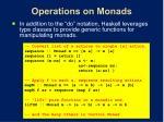 operations on monads