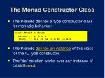 the monad constructor class