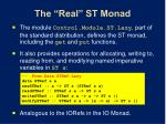 the real st monad