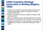 csiw cognitive strategy instruction in writing englert 1992