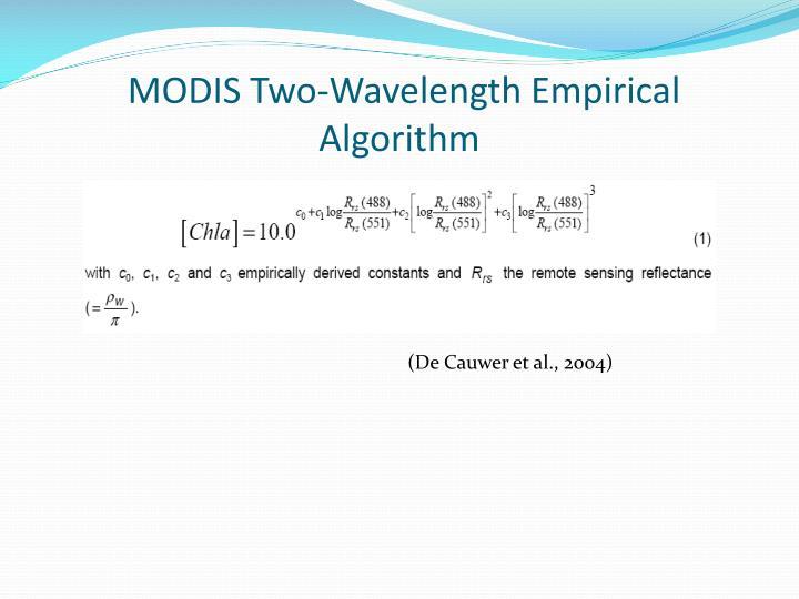 MODIS Two-Wavelength Empirical Algorithm