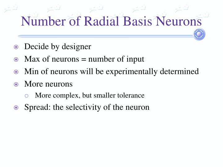Number of Radial Basis Neurons