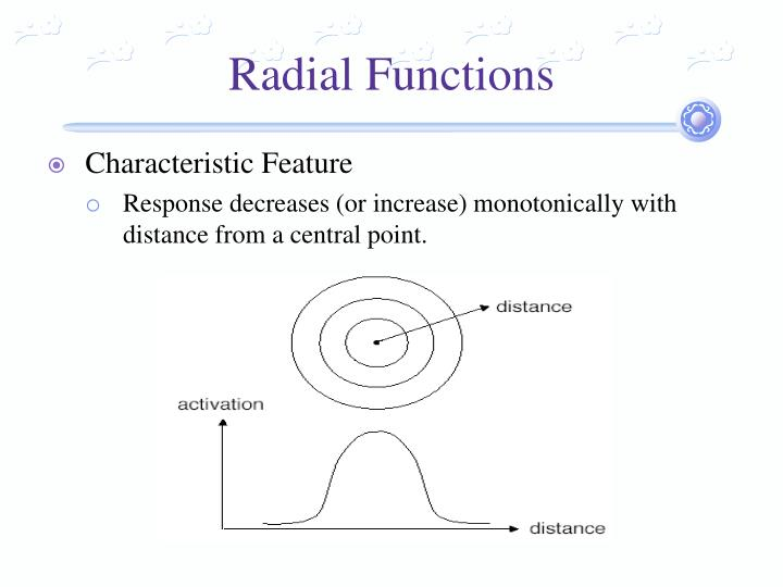Radial functions