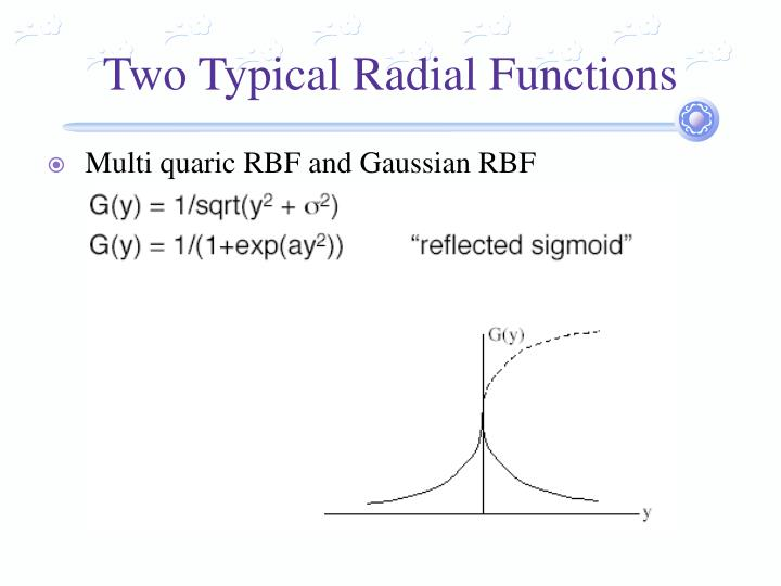 Two Typical Radial Functions