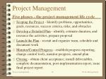 project management five phases the project management life cycle