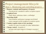project management lifecycle step 4 monitoring and controlling progress20