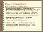 project management reading materials from the web