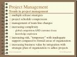 project management trends in project management