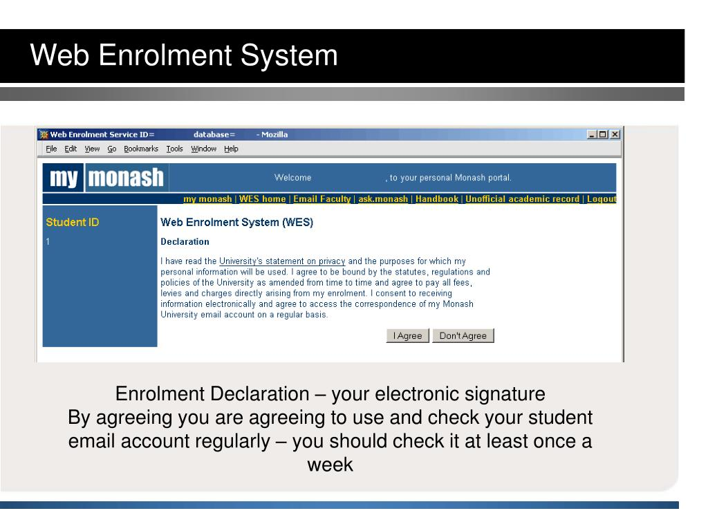 unedited copy of enrolment system