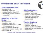 universities of art in finland22