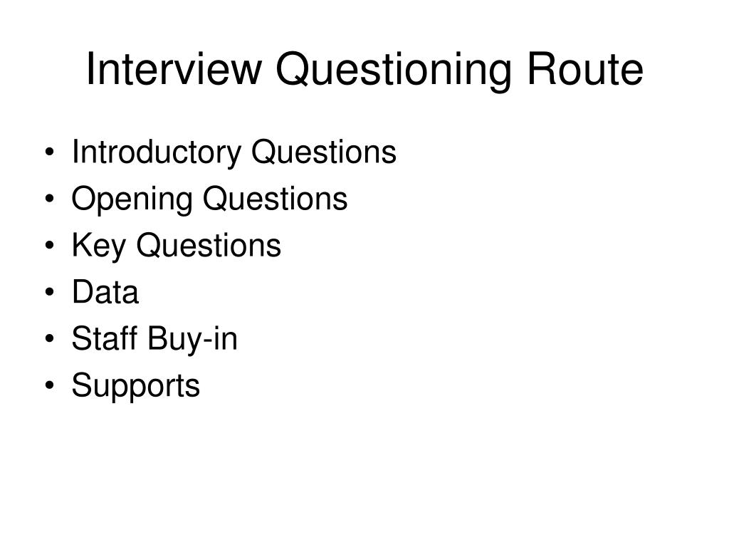 Interview Questioning Route