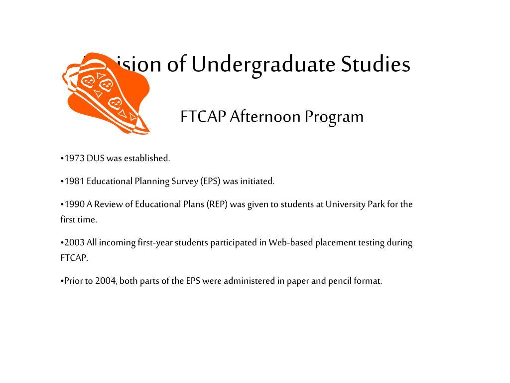 division of undergraduate studies l.