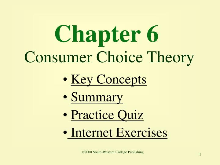 chapter 6 consumer choice theory n.