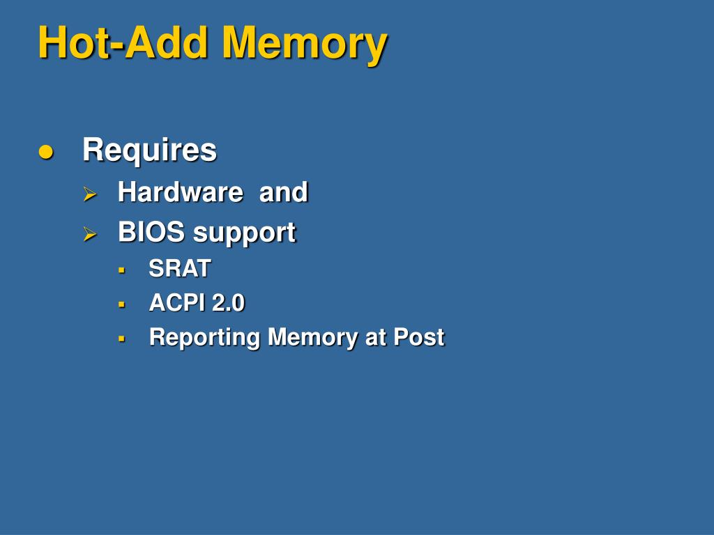 Hot-Add Memory
