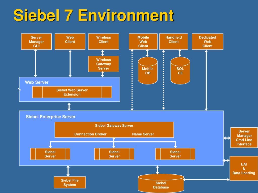 Siebel 7 Environment