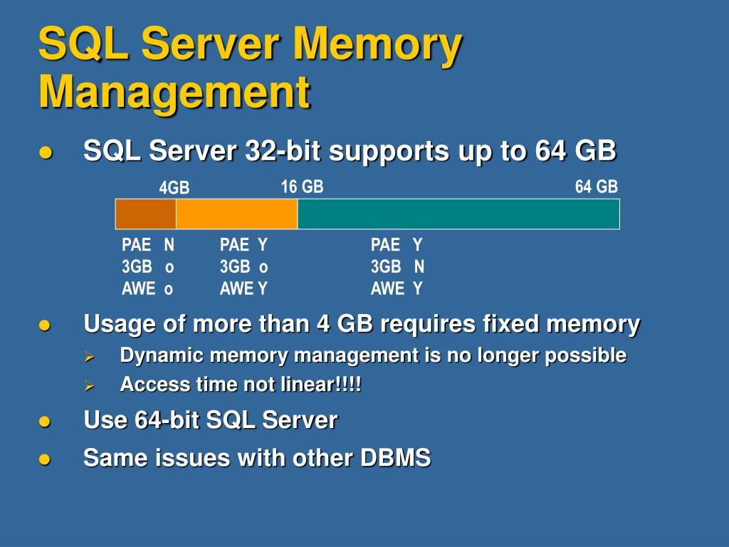 SQL Server Memory Management