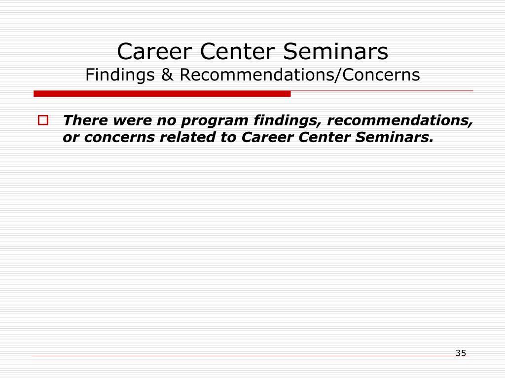 Career Center Seminars