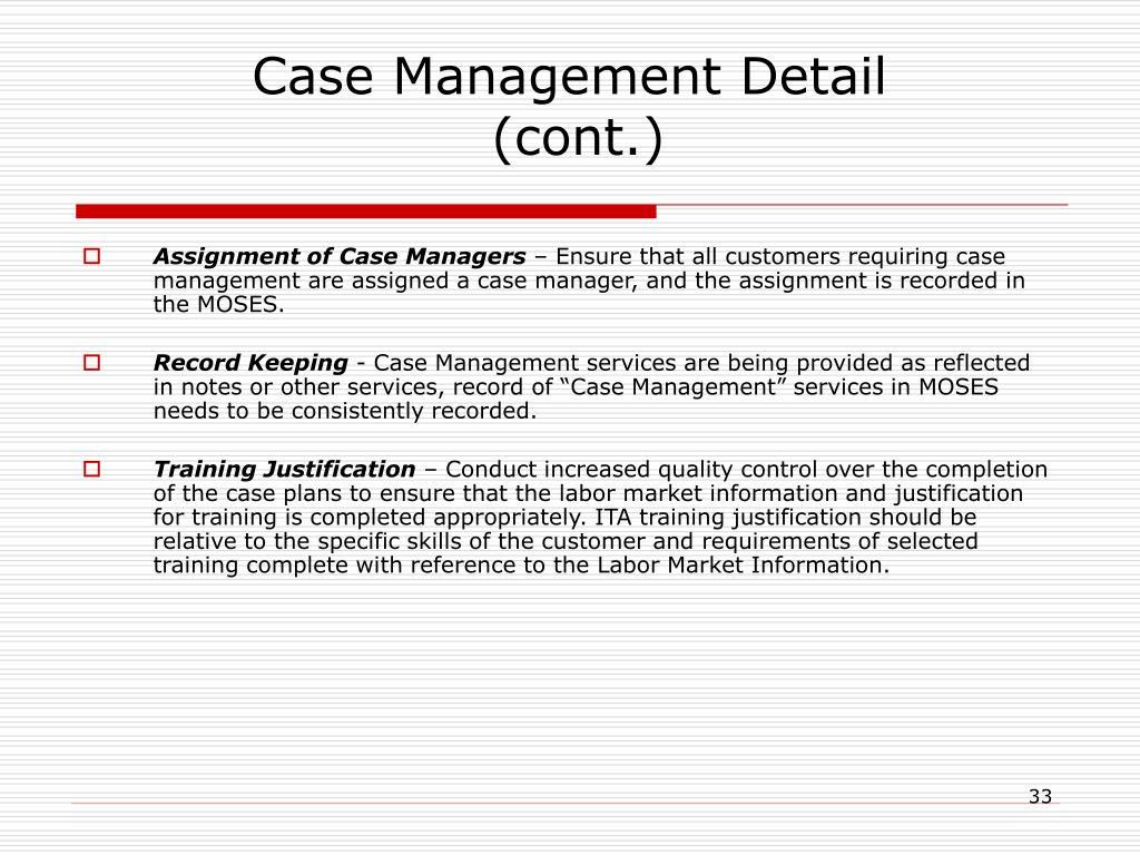 Case Management Detail