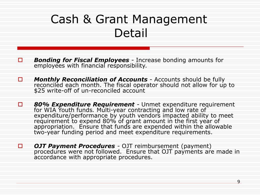 Cash & Grant Management