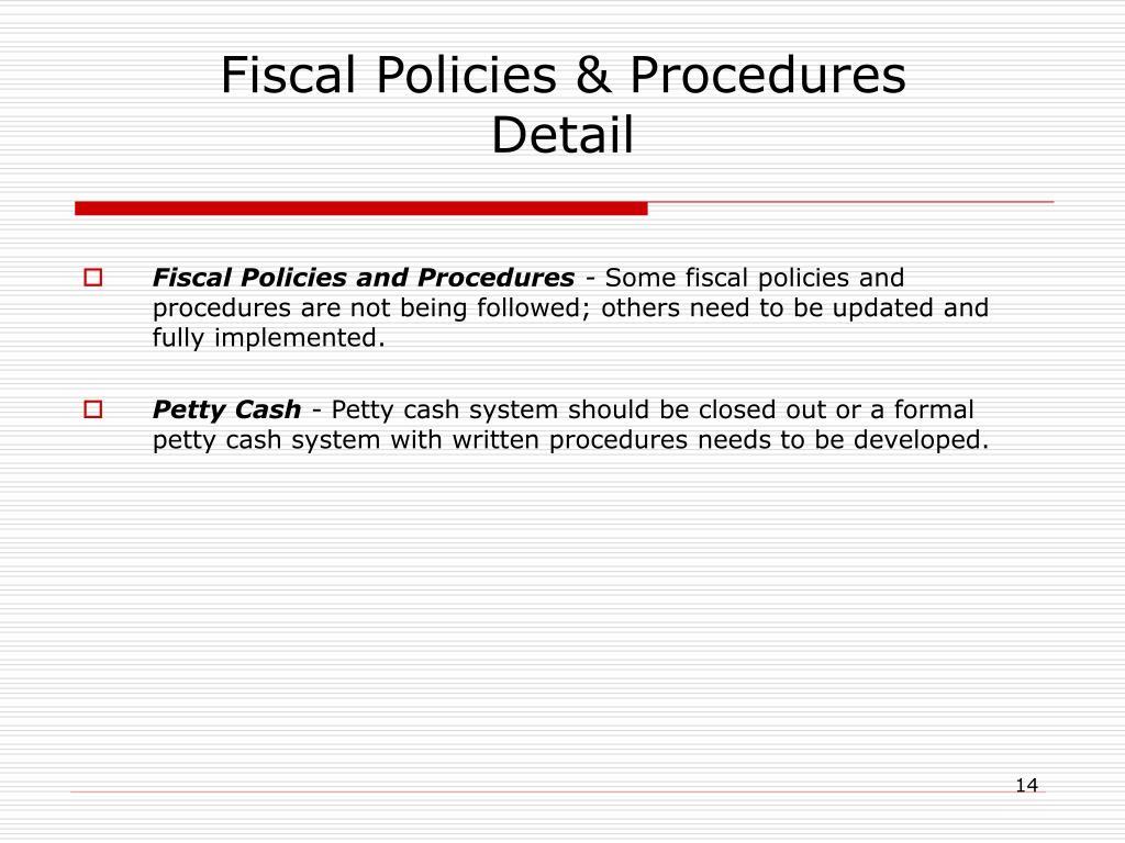 Fiscal Policies & Procedures