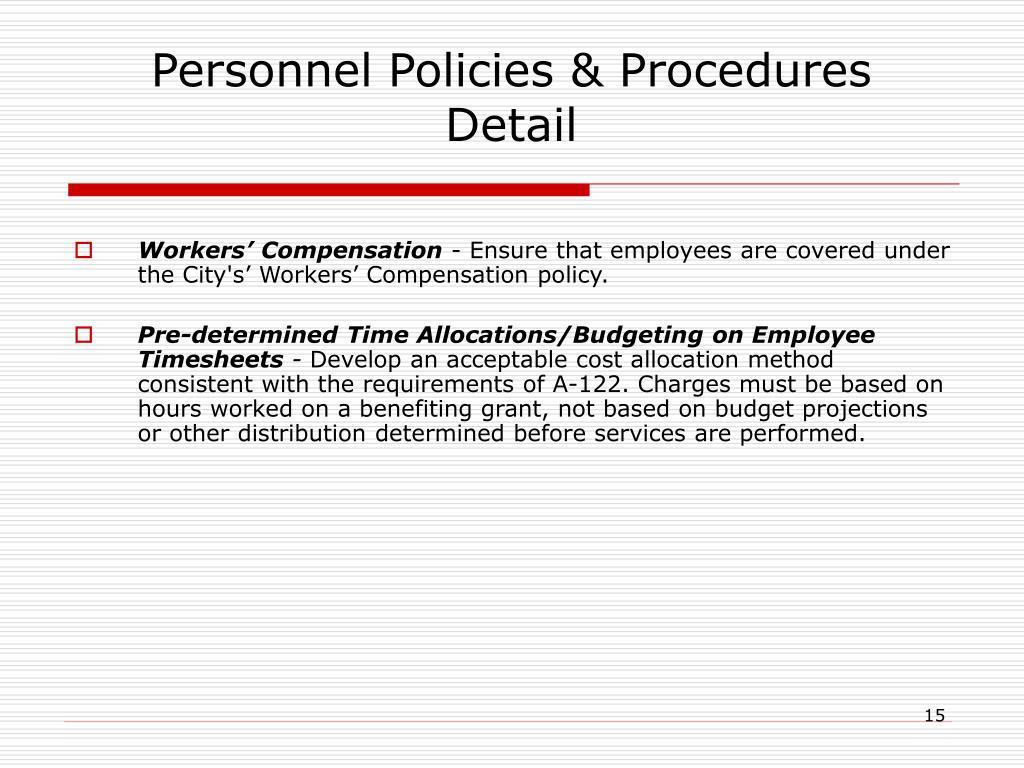 Personnel Policies & Procedures