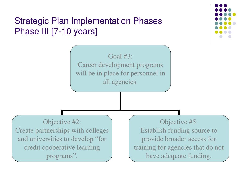 Strategic Plan Implementation Phases