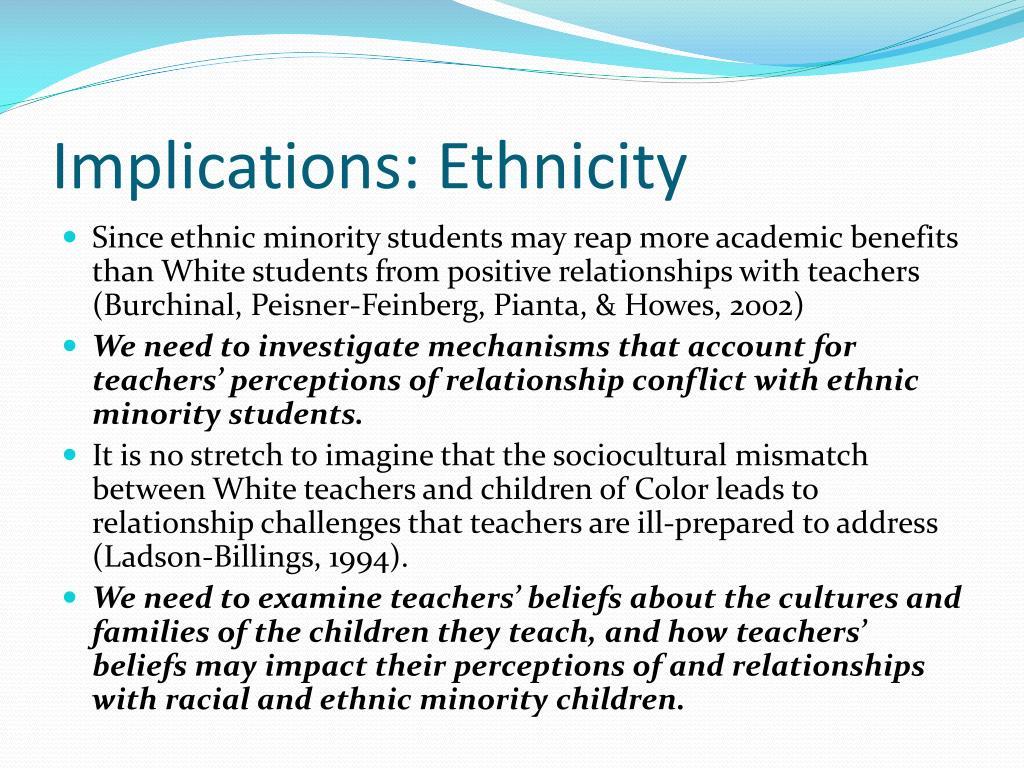 Implications: Ethnicity