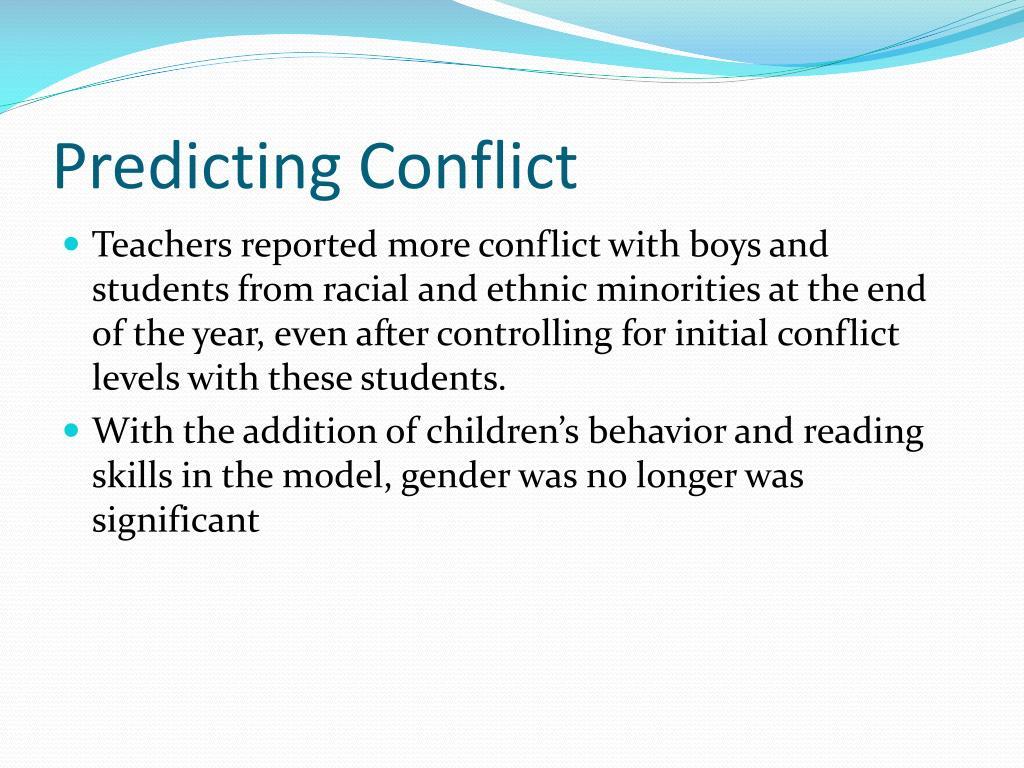 Predicting Conflict