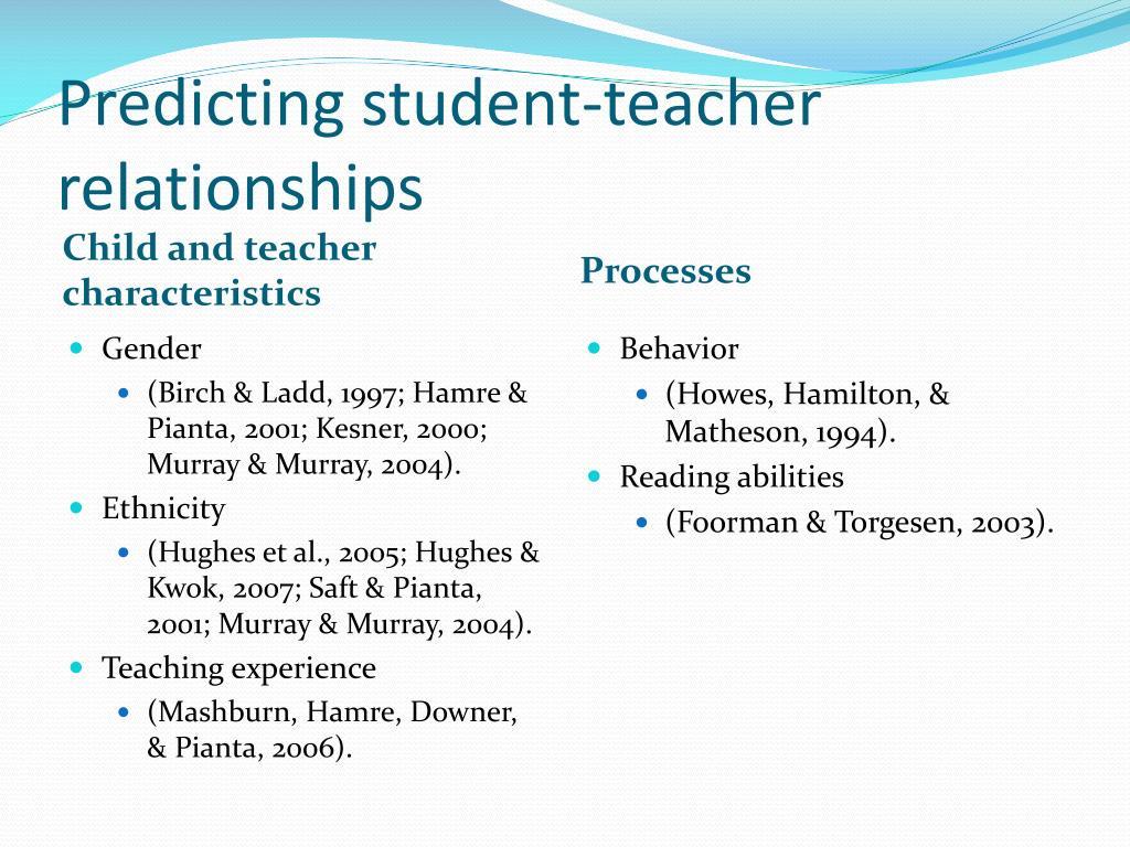 Predicting student-teacher relationships