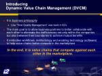 introducing dynamic value chain management dvcm