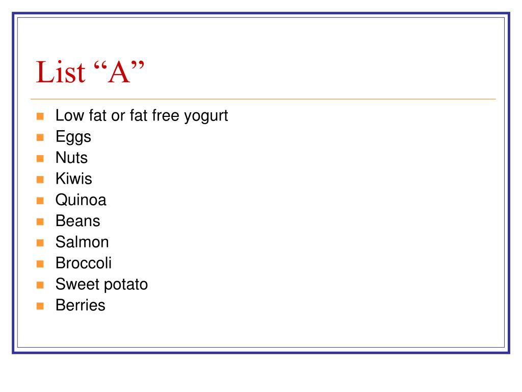 "List ""A"""