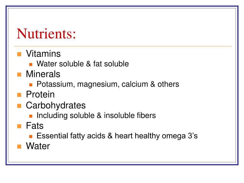 Nutrients: